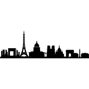 Paris France Skyline Vinyl Wall Art Decal Sticker